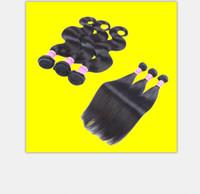 ingrosso fasci brasiliani 1b-Capelli tesse brasiliana dei capelli Bundles natral Colore 1B