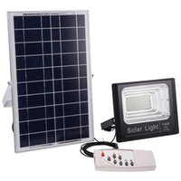 Wholesale solar panel cells online - Solar IP67 Floodlight W W W W W W LM W Power Cell Panel Battery Outdoor Waterproof Industrial Lamps Lights Remote Control
