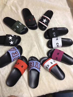 Wholesale sandals resale online - 2019 Fashion slide sandals slippers Leather rubber for men women WITH ORIGINAL BOX Hot Designer unisex beach flip flops slipper BEST QUALITY