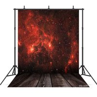 Wholesale background backdrop floor resale online - red cloud photography background wooden floor backdrop portrait for photo shoot vinyl cloth photo backdrops photo booth