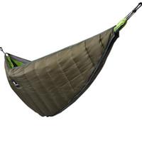 manta de camping al por mayor-Hamaca de invierno Underquilt Ultraligero Picnic exterior Camping Senderismo Hamacas calientes debajo de la colcha de la manta 3 unids LJJO7045