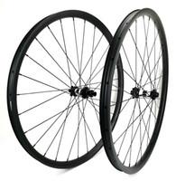 Wholesale 29er wheel set resale online - 29er Mountain Bikes carbon wheels mm width mm depth tubeless MTB XC carbon wheelset with UD matte finish DT hub