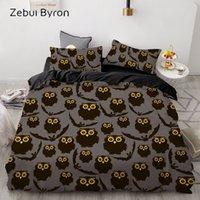 Wholesale bedding sets for for sale - Group buy 3D Cartoon Kids Bedding Set For children baby Custom King Europe Duvet Cover Set Quilt Blanket Cover Set black owl Bedclothes