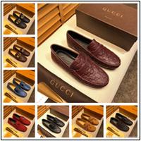 zapatos de cuero marrón para hombres al por mayor-Newst mix modelo 21 Zapatos de vestir para hombre Planos de lujo Oxfords para hombre de negocios Zapatos casuales Estilo británico Negro Marrón Derby de cuero en punta