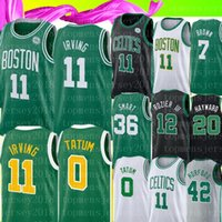 ingrosso marrone xl-Kyrie NCAA Irving 11 Jersey University Larry 33 Bird Jayson # Tatum Jaylen # Brown Hayward Brown Rozier III Smart maglie da basket