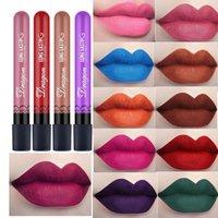 ingrosso vendita di rossetto impermeabile-I più venduti impermeabile del rossetto sexy vampiro labbra rossetti di velluto opaco bastone Red lips colore 28 signore di colore trucco cosmetici