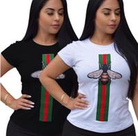 eski bluzlar toptan satış-Yaz Tees Kadınlar Bluz Tops 100% pamuk gömlek Bayan Tasarımcı T Shirt Bayan Tasarımcı T Shirt Kısa Kollu Kadın Giysileri