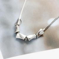 spiral kolye kolye toptan satış-Lüks takı S925 gümüş kolye spiral taş kolye kolye kutusu zincir kadınlar için basit sıcak moda