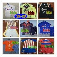 kulüp forması toptan satış-2019 2020 LIGA MX Kulübü Amerika Cruz Azul çocuklar Kitleri Futbol Forması 19 20 NAUL Tigrs UNAM Chivas Cougar Meksika Çocuklar futbol gömlek üniforma
