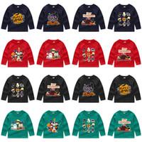 maillots de détail achat en gros de-Détail 24 styles Costumes Halloween Costumes Pour Enfants T-shirts à manches longues Casual bande dessinée imprimé pull garçons filles maillots de football enfants
