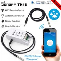Wholesale temperature humidity monitors for sale - Group buy Sonoff TH16 Smart Wifi Switch Monitoring Temperature Humidity Wireless Wifi Smart Switch Home Automation Work with Alexa Homekit