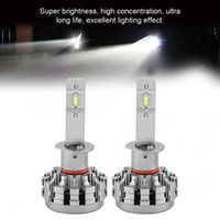 Wholesale conversion car resale online - light bulbs for cars Car LED Headlight Conversion Kit Flashing Light Headlamp Bulbs H1 Auto Accessories