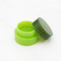 boş makyaj konteynerleri ücretsiz gönderim toptan satış-10g Yeşil Doldurulabilir Şişeler Plastik Boş Makyaj Kavanoz Pot Seyahat Yüz Kremi Kozmetik Konteyner Ücretsiz Kargo
