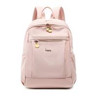 sırt çantası pembe toptan satış-OKKID çocuklar için sevimli pembe sırt çantası okul çantaları kız öğrenci su geçirmez naylon okul sırt çantası bookbag sırt çantaları genç kızlar için
