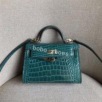 bolsa de couro bege venda por atacado-Designer de moda bolsa das mulheres saco de crocodilo bege couro de bezerro couro bolsa de ombro bolsa totes Hardware de ouro