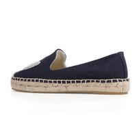 thick rubber soled shoes for women groihandel-Damenschuhe Espadrille Plattform flache Fischer 2019 Sapatos Dame Casual GummiOutsole Off-Duty-Tage Flachsstroh Thick Soled