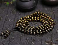 Wholesale carving black obsidian for sale - Group buy 8mm Tibetan black obsidian Bead carve Mantra om mani padme hum Amulet Bracelet