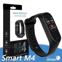 ingrosso vigilanza monitoraggio-M4 intelligente Banda Fitness Tracker Guarda Sport bracciale orologio frequenza cardiaca intelligente 0,96 pollici Smartband Health Monitor Wristband PK mi Band 4