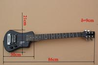 envío gratis zurdo guitarra al por mayor-Guitarra eléctrica zurda de envío gratis azul con pastillas 1H, Pickguard negro, cuerpo de caoba, diapasón de palisandro, que ofrece servicios personalizados