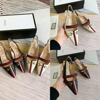 ingrosso sandalo da danza nozze avorio-Scarpe da donna di design di lusso con sandali BOX pumps tacchi vera pelle di montone pelle di pecora GC scarpe casual moda di marca muli Princetown