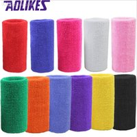 muñequeras de felpa al por mayor-banda de 15 * 7,5 cm pulseras de tela de toalla vincha deporte mano mayor-1 PC para el voleibol gimnasio tenis de sudor refuerzo de soporte para la muñeca envuelve guardias