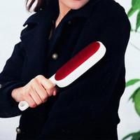 pinsel für kleidung großhandel-Fusselrolle Doppelte Seite Wiederverwendbare Kleidung Klebrige Bürste Staub Fusselentferner Pet Haarreiniger Pinsel für Hauptkleidung MMA1209