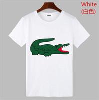 yüksek kaliteli erkekler spor gömlekleri toptan satış-Yeni Yüksek Kaliteli Pamuk Timsah Derileri O-yaka Kısa Kollu T-shirt Marka Deluxes Tasarımcılar Erkek T-shirt Eğlence Tarzı Spor Erkekler polo