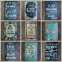 ingrosso dipinti d'amore-Poesia inglese Piatto d'epoca Classico Lattine d'epoca Poster Famiglia d'amore 20 * 30cm Quadri in ferro Targa in metallo per camera da letto Decorazione di libri