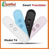 französische stimme großhandel-Übersetzer T4 Smart Instant Voice Translator 42+ Spanisch Frankreich Thailändisch Italienisch Französisch Interaktives Übersetzungstool Voice Translator