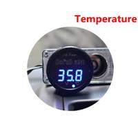 thermomètre led livraison gratuite achat en gros de-3 en 1 bleu LED voiture numérique batterie voltmètre thermomètre USB de charge approprié pour 12V et 24V batterie livraison gratuite