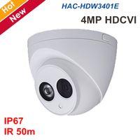 Wholesale camera osd menu online - New MP HDCVI Camera HAC HDW3401E IR meters Day Night vision Support OSD menu control Waterproof Coaxial Camera Security cam