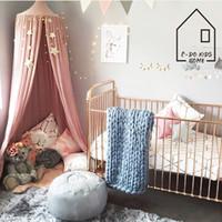 red para bebé al por mayor-Juego de niños Casa de campaña Canopy Bed Curtain Baby Hanging Carpa Cuna Habitación de los niños Decoración Ronda Hung Dome Mosquito Net Bed
