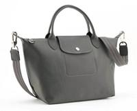 kaliteli naylon çanta toptan satış-Yüksek Kaliteli At Tasarımcı Su Geçirmez Ünlü Markalar Kadınlar Dana Naylon Çanta Kısa Sap Bayan Bayan Omuz Çantaları L578 Kalınlaştırmak