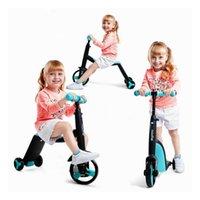 carros de triciclo venda por atacado-Crianças Scooter Balancer Tricycle 3 Em 1 Bebê Scooter Balance Car 3 Rodas Bicicleta Walker Carro Equilíbrio Bicicleta Passeio em Brinquedos 2-6 Y