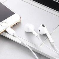 auriculares auriculares iphone 5s al por mayor-Auriculares intrauditivos con cable Auricular Bluetooth para Apple iPhone X XR XS Max 8 7 6 6S Plus 6 5 5S Auriculares con micrófono Teléfono del oído