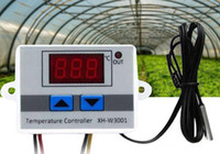 ingrosso interruttore lcd-LCD Dsplay XH-W3001 Regolatore di temperatura 12 V 24 V 220 V Digital LED Regolatore di temperatura 10A Interruttore di controllo del termostato Sonda
