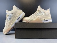 Wholesale white shoes size 13 resale online - 2020 Jumpman s IV beige white color tiger print Mens Basketball Shoes Size Athletic Sport Sneakers BQ9043 size36