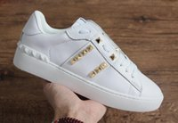 Wholesale studs for sale for sale - Group buy New women designer shoes with best quality luxury open sneaker white color gold stud star casual running shoes for man sale size