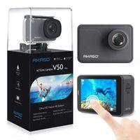 Wholesale pro dv camera online - Akaso V50 Pro K WIFI Waterproof Action Camera MP Sports DV DVR Camcorder