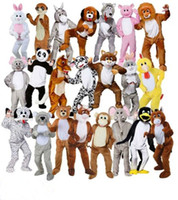 ingrosso grandi costumi della mascotte della testa-Costume adulto Big Head Deluxe Mascot Animal Costume Bunny horse teddy costume mascotte Jumbo peluche per Halloween Purim party