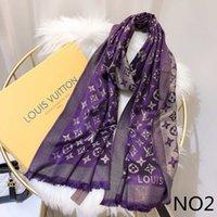 bufandas nuevas al por mayor-Nuevo diseñador de moda bufanda de seda Venta caliente mujeres lujo primavera invierno chal bufanda marca bufandas tamaño aproximadamente 180x70cm 6 colores con opción de caja