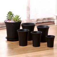 ingrosso piante in vaso in vaso-Vasi di plastica polacchi smussati di altezza a 5.1 pollici del diametro a 4 pollici per le piante, piantine di talee, piantatrici viventi durevoli del giardino di 10 pacchetti