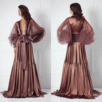 Wholesale black dress bolero jacket resale online - Silk Bathrobe for Bridal Full Length Lingerie Nightgown Pajamas Sleepwear Womens Luxury Dressing Gowns Housecoat Nightwear Lounge Wear