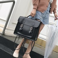 Wholesale korean style female backpack for sale - Group buy 2019 New Korean Version of The Retro College Style Shoulder Bag Hand Fashion Wild Soft Leather Female Backpack