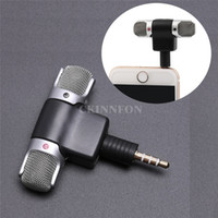 Wholesale professional portable microphone resale online - DHL Professional Mini Recorder Stereo Voice Digital Mic Microphone Portable For Smartphones PC