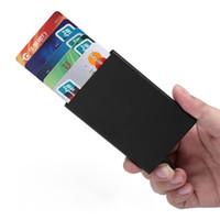 alüminyum kartvizitler toptan satış-Otomatik Pop Up Kredi Kartı Tutucu Kapak Yüksek Kalite İş Alüminyum Kart Cüzdan Seyahat Nakit Klip Tutucu Cardholder