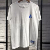 новый стиль лучшие рубашки оптовых-2019 Adererror Мужчины Женщины футболки лучшее качество письмо летний стиль мода повседневная новый Ader ошибка Adererror футболки топ тройник
