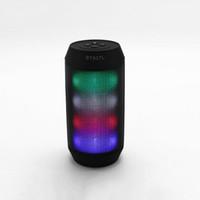 mini hd portátil al por mayor-2019 Hot Portátil Mini Luces LED HD Sonido Surround Altavoz Bluetooth Manos libres Llamada inalámbrico Altavoz
