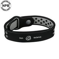 pulsera de salud iónica al por mayor-Noproblem Bio Health Benifits Ion Equilibrio Terapia de potencia Silicone Sports Choker Turmalina germanio pulsera de pulsera Y19051302