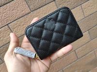 reißverschluss bank taschen großhandel-Modemarke mattes Leder Reißverschluss Kompaktkartentasche Luxus ID Bankkartentasche Geldbörse Brieftasche Designer Tote Clutch Bag Boutique VIP Geschenk